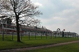 Pontefract Racecourse - The racecourse grandstand