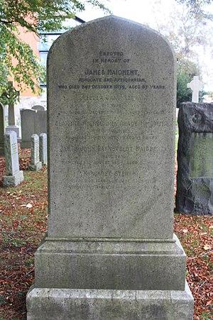 James Maidment - The grave of James Maidment, Dean Cemetery, Edinburgh