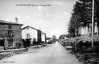 Col de la République - The hamlet of 'République', Loire - circa 1910-1920