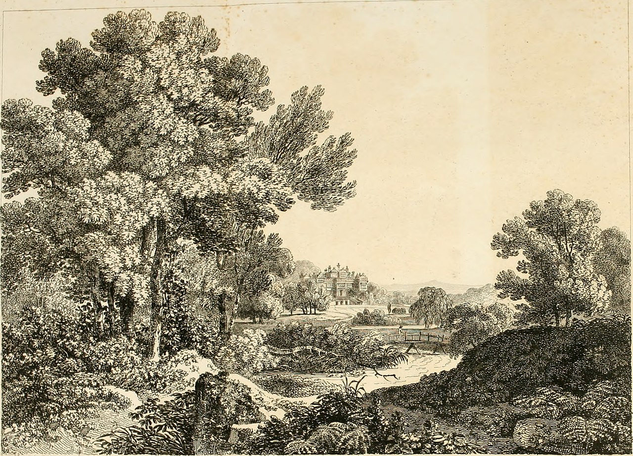 Etching by Benjamin Thomas Pouncy after Thomas Hearne, illustrating the principles of the picturesque in Richard Payne Knight's The Landscape, 1794, Yale Center for British Art, Paul Mellon Collection