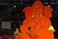 The noted film actress Ms. Hema Malini offering puja to Lord Ganesh at the opening ceremony of 3rd Commonwealth Youth Games-2008, in Pune on October 12, 2008.jpg