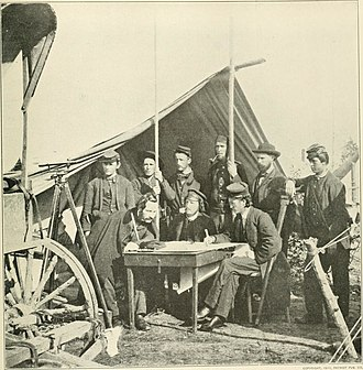 United States Army Corps of Topographical Engineers - Topographical Engineers at work during the Yorktown campaign, May 1862.
