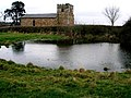 The pond and the derelict church at Great Stretton - geograph.org.uk - 1580589.jpg