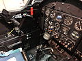 The rear cockpit of the Silver Swallows Fouga Magister, 1970s - 1990s (12119174224).jpg