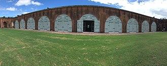 Immortal Six Hundred - The southeast wall of Fort Pulaski