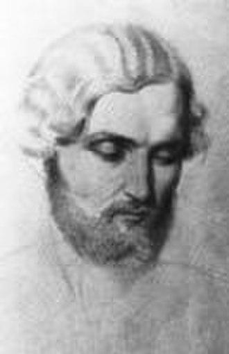 Theodoros Vryzakis - Portrait by Ludwig Thiersch (c. 1845/50)