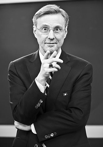 Thom Hartmann - Hartmann on the set of his television program The Big Picture.