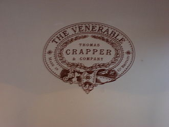 Thomas Crapper - Thomas Crapper Branding on one of his company's toilets