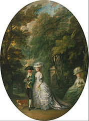 Henry, Duke of Cumberland with Anne, Duchess of Cumberland, and Lady Elizabeth Luttrell