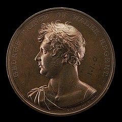 George, 1762-1830, Prince of Wales, King George V 1820 [obverse]