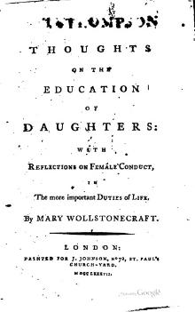 an analysis of the belief of men about women in the works of mary wollstonecraft Mary wollstonecraft, one of the earliest feminist writers, was definitely a forerunner of women's rights although mary died very young, she left.