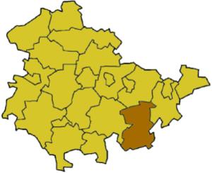 Saale-Orla-Kreis - Image: Thuringia sok