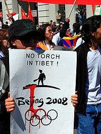 Tibetan brande sig i protest i kina