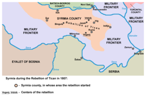 Tican's rebellion - Syrmia during the Rebellion of Tican in 1807