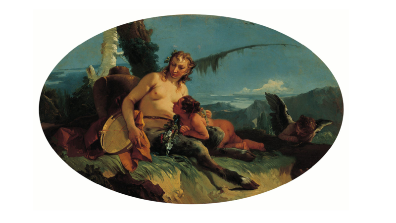 File:Tiepolo - Female Satyr with Tambourine Child Putto - Pasadena.png