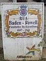 Tile sign, Rua Baden-Powell, Albufeira, 18 October 2016.JPG