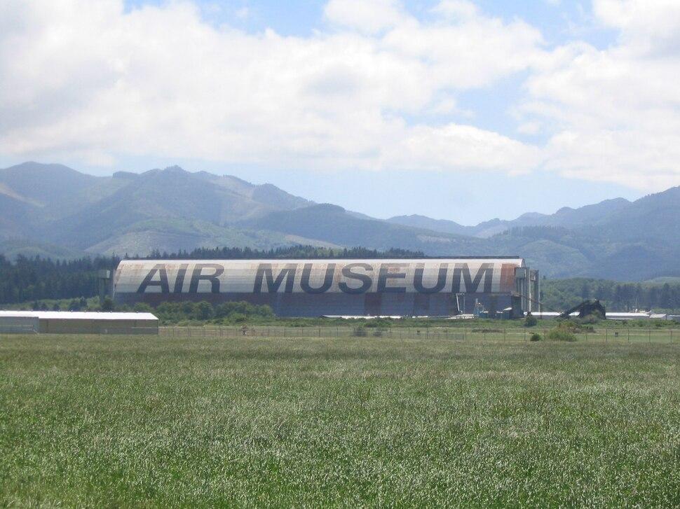 Tillamook Air Museum from distance