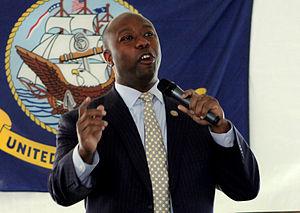 Tim Scott - Representative Scott speaking at a Veterans Day event in 2011