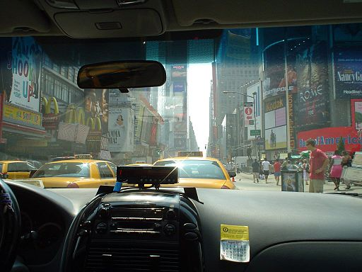 Times Square NYC taxi