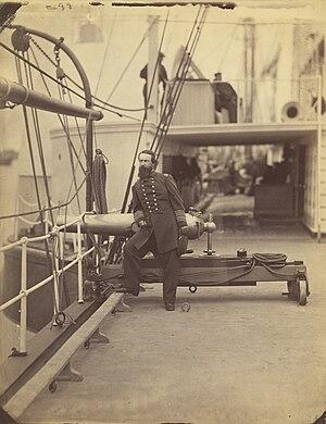 USS Malvern (1860) - Rear Admiral Porter on the deck of Malvern