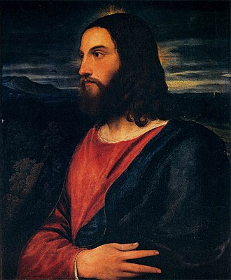 Redeemer (Christianity) - Christ the Redeemer by Titian (c. 1534), Palazzo Pitti, Florence.