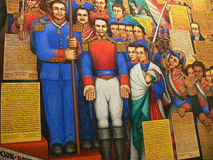 Desiderio Hernández Xochitiotzin - Section of the mural post Independence