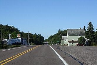 Toivola, Michigan - Toivola along M-26