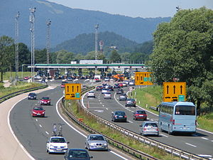 A1 motorway (Slovenia) - The toll station at Log pri Brezovici