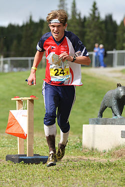 Tomas Dlabaja, Relay at WOC2010.jpg