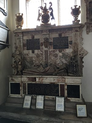 Stoke-by-Nayland - Tomb of Lady Anne Windsor, St Mary's Church, Stoke-by-Nayland