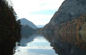 Deutsch: Blick über den Toplitzsee in Richtung...