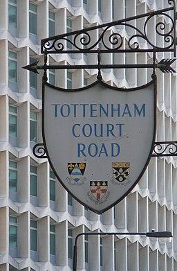Tottenham Court Road shield sign