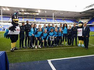 2016–17 FA Women's Premier League - Tottenham Hotspur Reserve with the league trophy.