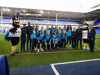 2016–17 FA Women's Premier League - Tottenham Hotspur Reserve with the league trophy.