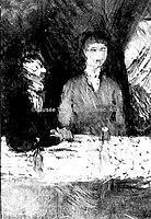 Toulouse-Lautrec - A TABLE ( verso de Sous les pins ), 1880, MTL.50.jpg