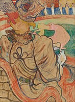 Toulouse-Lautrec - At the Nouveau Cirque The Dancer and the Five Stiff Shirts, 1892.jpg