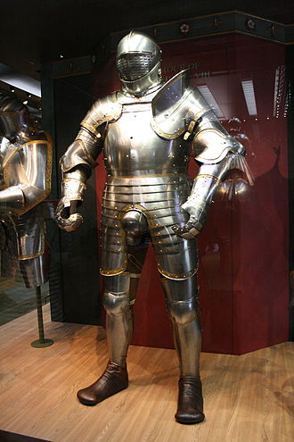 White Tower (Tower of London) - The Royal Armoury still has displays in the White Tower. This suit of armour belonged to Henry VIII.