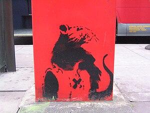 Stencil art, recent I think ...