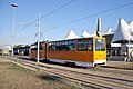 Tram in Sofia in front of Central Railway Station 2012 PD 057.jpg