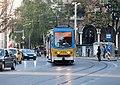 Tram in Sofia near St Nedelya Church 2012 PD 001.jpg