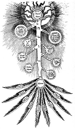 The tree of life based on the depiction by Robert Fludd in the Deutsche Fotothek Tree of Life Fludd.jpg