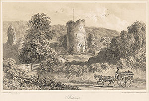 Tretower Castle - Remains of Tretower Castle c.1860