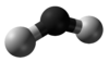 Ball-and-stick model of triplet methylene