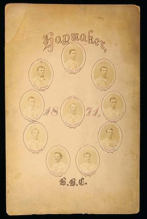 1871 Troy Haymakers season - Picture of the 1871 Troy Haymakers