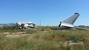 Tupolev Tu-104 - Wreckage of the Czechoslovak Airlines Tupolev Tu-104 (OK-MDE) near Nicosia airport (2015)