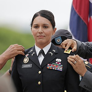 Tulsi Gabbard - Gabbard at the ceremony of her promotion to major on October 12, 2015