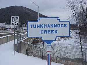 Tunkhannock, Pennsylvania - A Keystone Marker for Tunkhannock Creek in Tunkhannock.