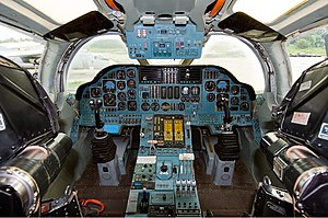 Tupolev Tu-160 - Cockpit view of a Tu-160