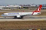 Turkish Airlines, TC-JHA, Boeing 737-8F2 (46722347615).jpg