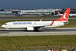 Turkish Airlines, TC-JHS, Boeing 737-8F2 (28392890912) (2).jpg